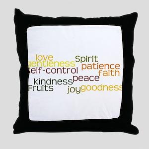 Fruits of the Spirit Throw Pillow