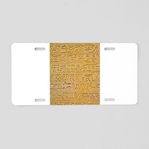 Hieroglyphics Count! Aluminum License Plate