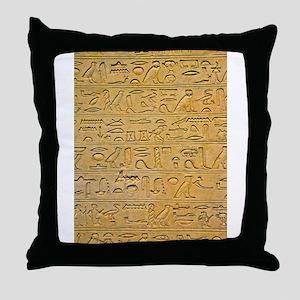 Hieroglyphics Count! Throw Pillow