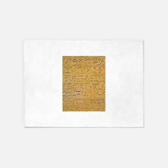 Hieroglyphics Count! 5'x7'Area Rug