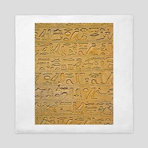 Hieroglyphics Count! Queen Duvet