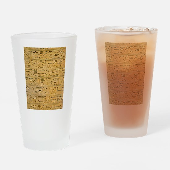 Hieroglyphics Count! Drinking Glass
