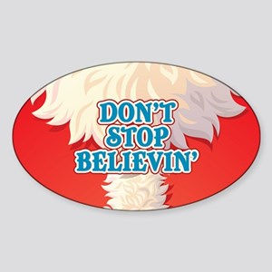 Don't Stop Believin' Sticker (Oval)