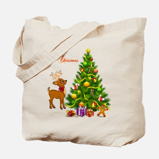 Shinny Christmas Tote Bag