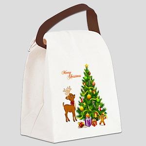 Shinny Christmas Canvas Lunch Bag