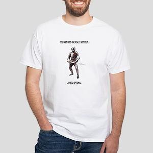 Men's Suit Of Armor White T-Shirt
