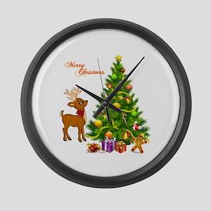 Shinny Christmas Large Wall Clock