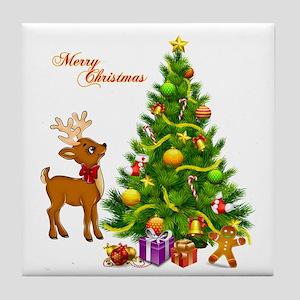Shinny Christmas Tile Coaster