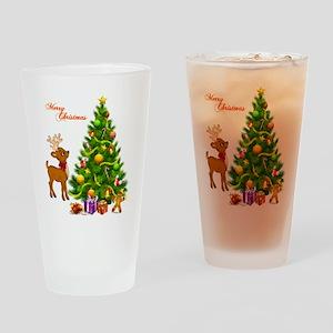 Shinny Christmas Drinking Glass