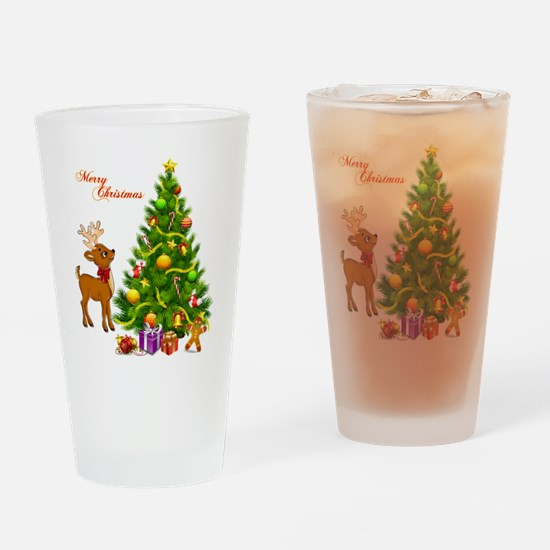Shinny Christmas Drinking Glass