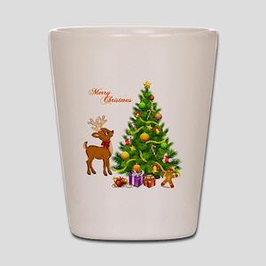 Shinny Christmas Shot Glass