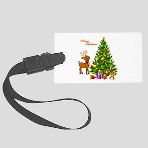 Shinny Christmas Large Luggage Tag