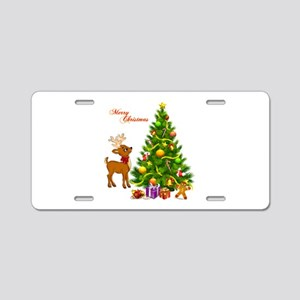 Shinny Christmas Aluminum License Plate