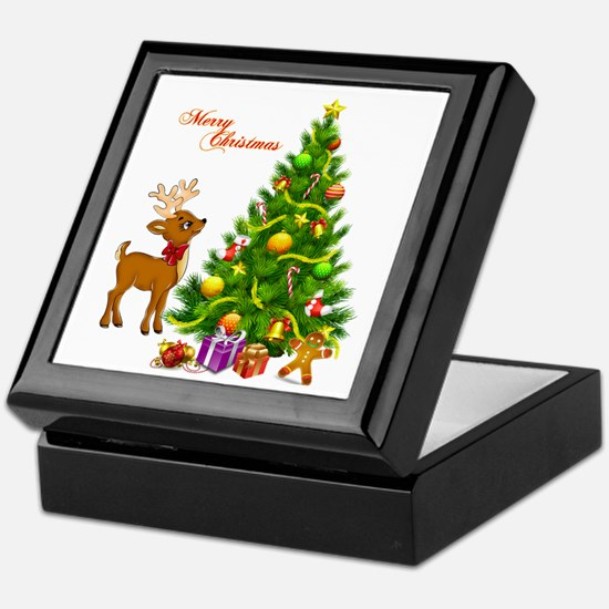 Shinny Christmas Keepsake Box