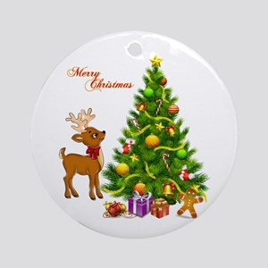 Shinny Christmas Round Ornament
