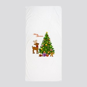 Shinny Christmas Beach Towel