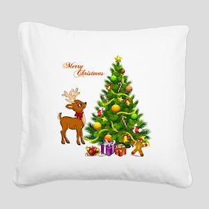 Shinny Christmas Square Canvas Pillow