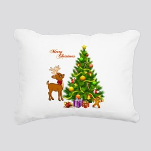 Shinny Christmas Rectangular Canvas Pillow