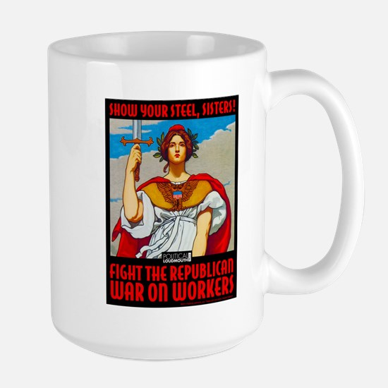 WAR WORKERS STEEL CAFE Stainless Steel Travel Mugs