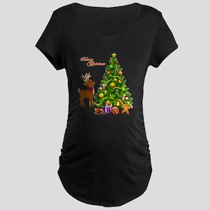 Shinny Christmas Maternity T-Shirt