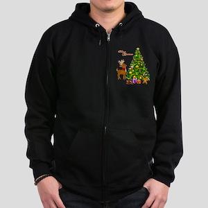Shinny Christmas Zip Hoodie (dark)