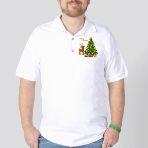 Shinny Christmas Golf Shirt