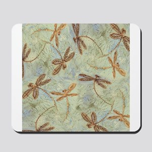 Dragonfly Dance Gold Mousepad