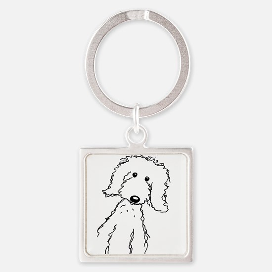 Cute Doodles Square Keychain