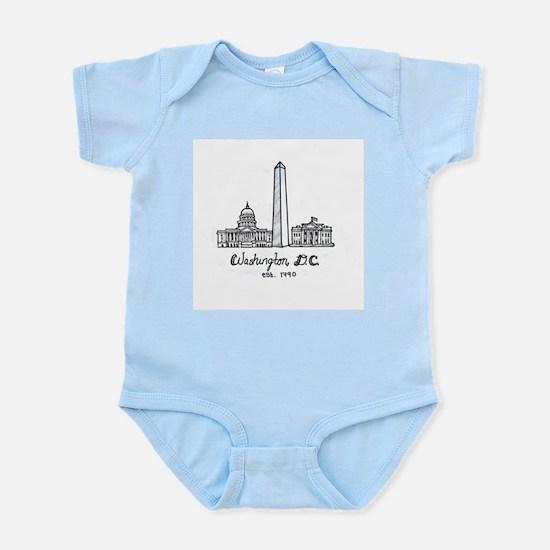 Washington dc baby clothes cafepress body suit 1999 baby bodysuit negle Gallery