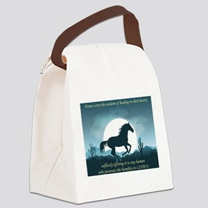 The Wisdom of Horses Canvas Lunch Bag
