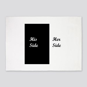 His Side: Her Side 5'x7'Area Rug