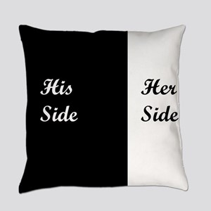 His Side: Her Side Everyday Pillow