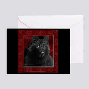 Black Wolf Invitation Card