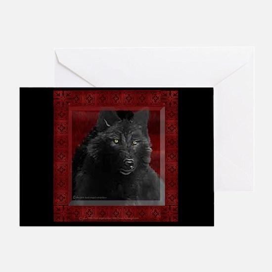 Black Wolf Invitation Card