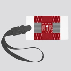 RTR houndstooth Large Luggage Tag
