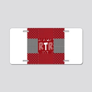 RTR houndstooth Aluminum License Plate