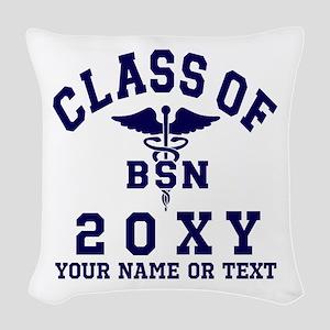 Class of 20?? Nursing (BSN) Woven Throw Pillow