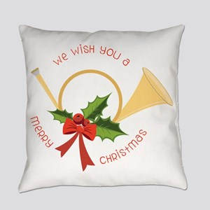 We Wish You A Merry Christmas Everyday Pillow