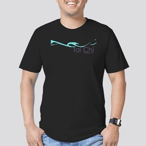 Tai Chi Wave 2 Men's Fitted T-Shirt (dark)