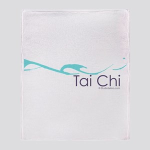 Tai Chi Wave 2 Throw Blanket