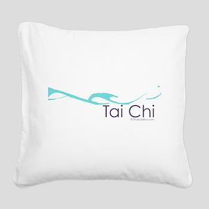 Tai Chi Wave 2 Square Canvas Pillow