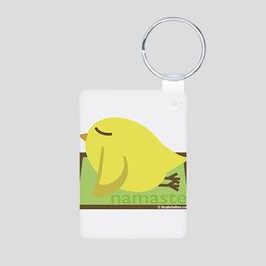 Yoga Bird Aluminum Photo Keychain