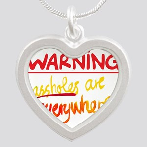 warning: assholes Necklaces
