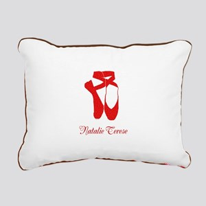 Team Pointe Ballet Heart Rectangular Canvas Pillow