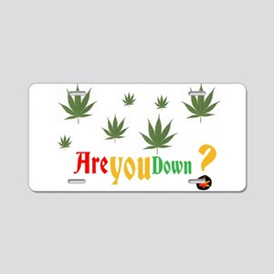 Are you down? Aluminum License Plate