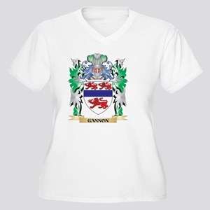Gannon Coat of Arms (Family Cres Plus Size T-Shirt