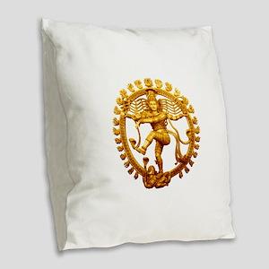 Shiva - Cosmic Dancer Burlap Throw Pillow