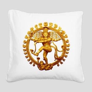 Shiva - Cosmic Dancer Square Canvas Pillow