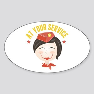 At Your Service Sticker