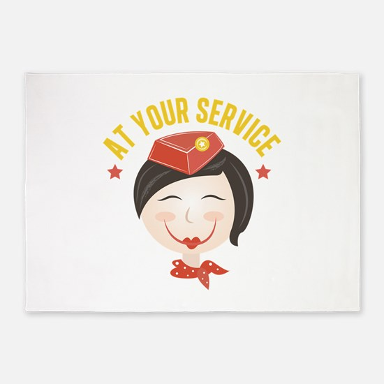 At Your Service 5'x7'Area Rug